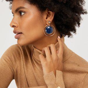 XO Halo Hoop Earrings
