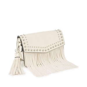 Vera Fringe Cross Body Bag - Cream