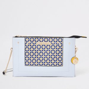 Geo pouch clutch bag