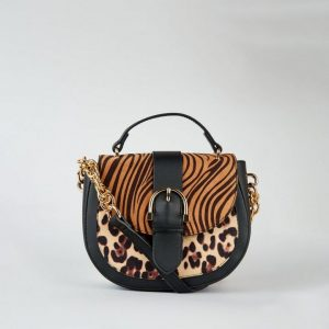 Animal Print Saddle Bag