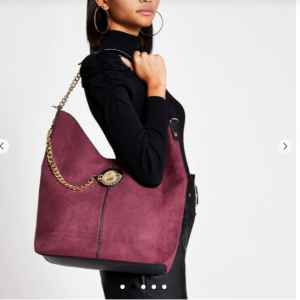 Coin slouch tote