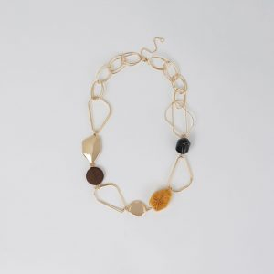 BEAD LINK STATEMENT NECKLACE