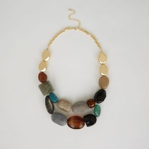 CHUNKY BEAD TWO ROW NECKLACE