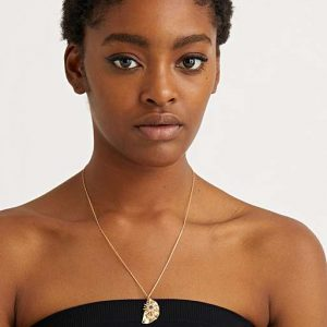 Blue Sun Star & Moon Pendant Necklace